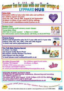 summer activities schedule 18