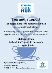 Tea and Support at Lyppard Hub